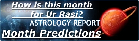 astrology monthly predictions month rasi palan