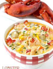 LOBSTER AND CORN CHOWDER- RECIPE